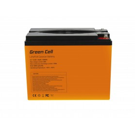 Green Cell - Green Cell LiFePO4 12.8V 42Ah battery for solar panels and campers - LiFePO4 battery - GC088