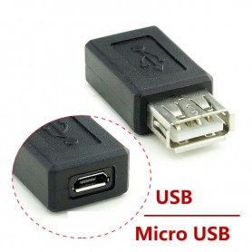 NedRo - USB Female to Micro USB Female Adapter - USB adapters - AL229