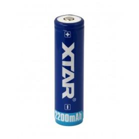 XTAR, Xtar 2200mAh 3.7V 18650 PCB PROTECTED battery, Size 18650, NK481
