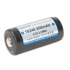KeepPower - KeepPower 16340 850mAh (Protected) 2A Li-ion Rechargeable Battery - Other formats - NK490