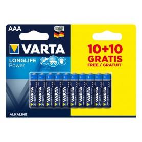 Varta - 10+10 FREE - AAA LR03 Varta Longlife Power alkaline battery 1.5V - Size AAA - BS481