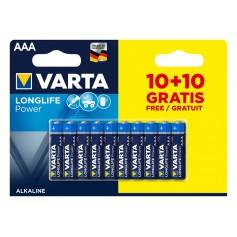 10+10 FREE - AAA LR03 Varta Longlife Power alkaline battery 1.5V