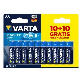 Varta - 10 + 10 FREE VARTA Longlife Power Alkaline batteries AA / LR6 (Mignon) 1.5V 2950 mAh - Size AA - BS482