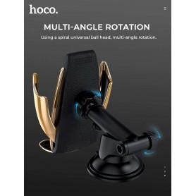 Haicom - Hoco CA34 Elegant Automatic 10W Fast Wireless Charging Car Holder - Other telephone holders - H047-CB