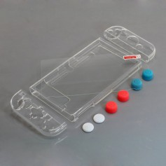Nintendo Switch Compatible TPU protective case, 6 analog stick caps and 9H screen protection glass