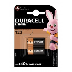 Duracell CR123 CR123A 3V Lithium battery (Duo Pack)