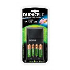 45-Min Duracell battery Fast charger + 2x AA 1300mAh + 2x AAA 750mAh