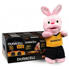 Duracell - Duracell Basic POWERPACK 80x AA +40x AAA + 14x CR2032 + FREE Rabbit mascot - Size AA - BL361