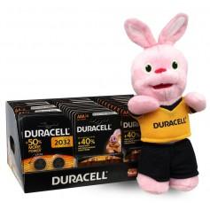 Duracell Basic POWERPACK 80x AA +40x AAA + 14x CR2032 + FREE Rabbit mascot