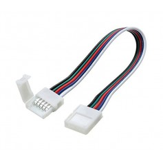 12mm 5 Pin RGBW RGBWW LED Click to Click 15cm Connector Cable Wire