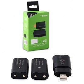 DOBE - 2x 600mAh NiMH Battery Pack + USB docking station XBOX One compatible - Xbox One - AL232