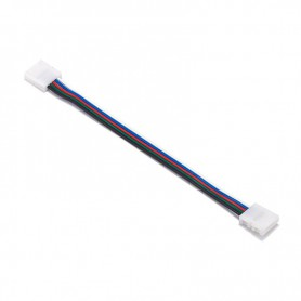 NedRo - 10mm 5 Pin RGBW RGBWW LED Click to Click 15cm Connector Cable Wire - LED connectors - LSCCW63
