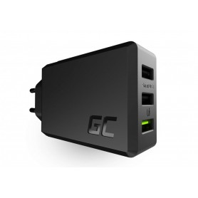 Green Cell - 30W 3xUSB ChargeSource 3 Ultra Charge and Smart Charge - Ac charger - GC094
