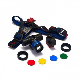 Oem - 600Lm XM-L T6 TIGER WOLF White Red Blue Green Yellow LED Headlight, bicycle lamp with bicycle handlebar bracket - Flash...