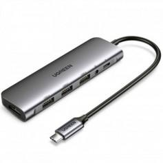 UGREEN USB-C 6 in 1 Hub (HDMI + 3 * USB 3.0 + 3.5mm AUX + USB-C PD Port