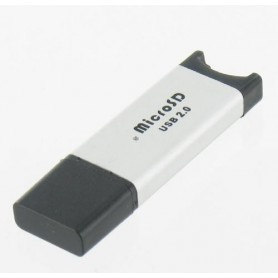 NedRo, Micro SD USB reader-writer silver microSD, MicroSDHC, T-Flash, Micro MMC, SD and USB Memory, YPU210