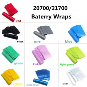 NedRo, 50 Pieces 20700/21700 Battery PVC Heat Shrink Tubing Tube Wrap, Battery accessories, NK503-CB