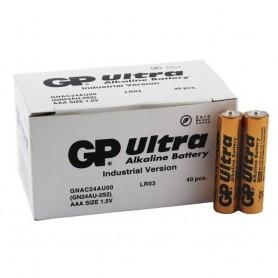 GP - 40x GP ULTRA Alkaline AAA LR03 1.5V Battery - Size AAA - BL366