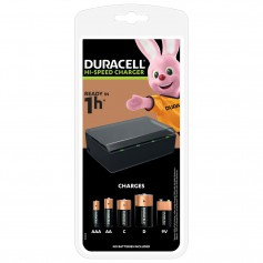 1h Duracell Battery Fast Charger NiMh AAA / AA / C / D / 9V