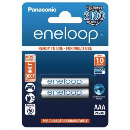 Eneloop, Panasonic Eneloop R3 AAA Rechargeable Battery, Size AAA, BS285-CB