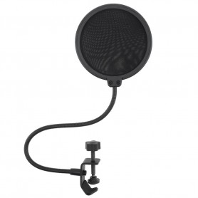 Oem, Double layer studio microphone Pop-filter flexible windscreen Mic-shield for recording - 100mm, Various computer accesso...