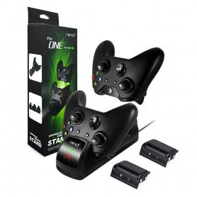 DOBE, Duo Charging Stand + 2 batteries for XBOX One One X and One S, Xbox One, AL1120-XB1