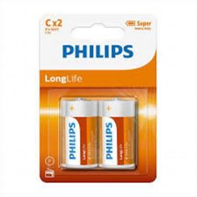 PHILIPS, Philips LongLife Zink C/LR14, Size C D 4.5V XL, BS499-C14