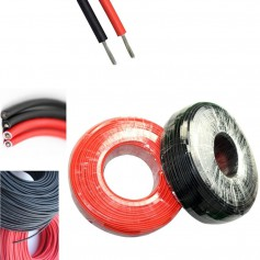 4mm2 (12AWG) Solar Wire - Red or Black - 1 Meter