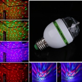 Unbranded, 3 Watt E27 Multicolor Rotating Party Lamp, LED gadgets, AL002