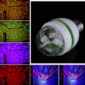 Unbranded - 3 Watt E27 Multicolor Rotating Party Lamp - LED gadgets - AL002 www.NedRo.us
