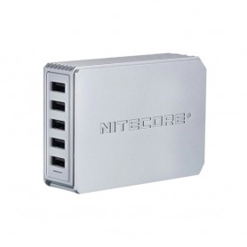 NITECORE - NITECORE UA55 5-Port USB HUB 5V 10A 50W - Ports and hubs - MF-UA55