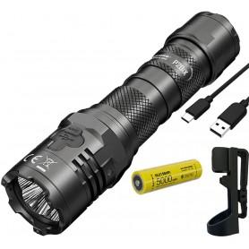 NITECORE, Nitecore P20iX Tactical flashlight rechargeable including 5000mAh Nitecore 21700i battery, Flashlights, MF-P20IX
