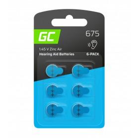 Varta - GREEN CELL 675 P675 PR44 ZL1 ZincAir Hearing aidbatteries - Hearing batteries - GC102-675-CB