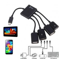 unbranded, OTG 4 Port Hub Micro USB For Smartphone Tablet, Other data cables , AL999