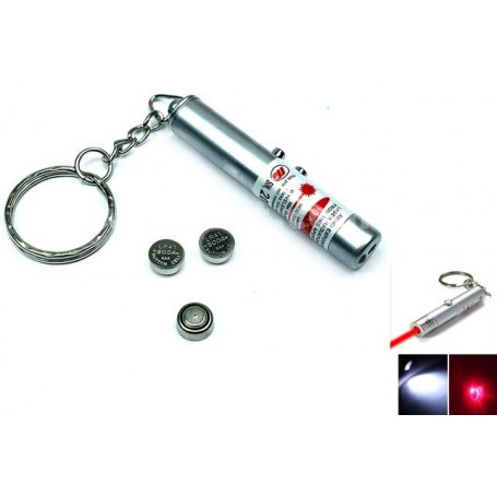 NedRo - 2in1 laser pointer + Led Keychain Light YOO004 - Flashlights - YOO004-CB www.NedRo.us