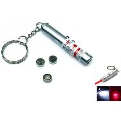 2in1 laser pointer + Led Keychain Light YOO004