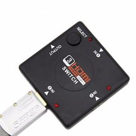 NedRo, 4 port 1.4 HDMI splitter divider 3x IN - 1x OUT, HDMI adapters, AL554