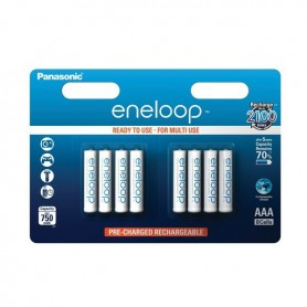 Eneloop, 8x Panasonic Eneloop AAA Rechargeable Battery R3, Size AAA, ON2107, EtronixCenter.com