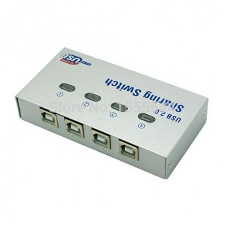 Oem - 4 Port USB2.0 USB Hub Auto Sharing Switch Box AL140 - Ports and hubs - AL140