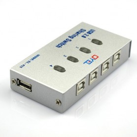 NedRo - 4 Port USB2.0 USB Hub Auto Sharing Switch Box AL140 - Ports and hubs - AL140 www.NedRo.us