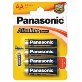 Panasonic, Panasonic Alkaline Power LR6/AA, Size AA, BL040-CB, EtronixCenter.com