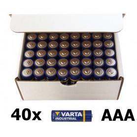 Varta - 40-Pack Varta Industrial LR03 AAA 4003 alkaline BL023 - Size AAA - BL023 www.NedRo.us