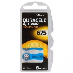 Duracell, Duracell ActivAir 675 MF Hg 0% Hearing Aid Battery 650mAh 1.45V, Hearing batteries, BS258-CB