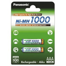 Panasonic, Panasonic 1000mAh AAA Rechargeable Battery NiMH, Size AAA, BL109-CB, EtronixCenter.com