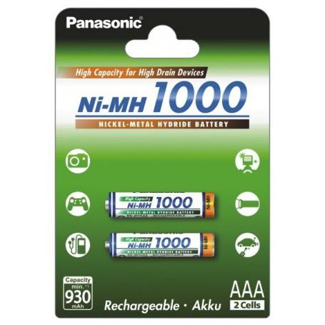Panasonic - Panasonic 1000mAh AAA Rechargeable Battery NiMH - Size AAA - BL109-CB