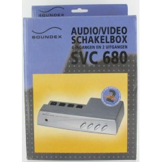 AUDIO/VIDEO Switchbox 4IN 2OUT SVC680 18680