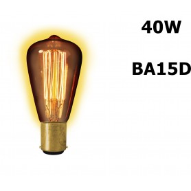 Calex - Edison Vintage 40W BA15D Decoration Light Bulb 130 LUM CA013 - Vintage Antique - CA013 www.NedRo.us