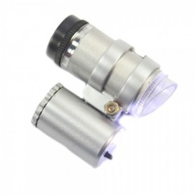 NedRo, 45X Mini Pocket Microscope Magnifier LED Loupe Jeweler, Magnifiers microscopes, AL019, EtronixCenter.com