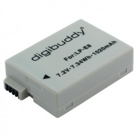 digibuddy - Battery for Canon LP-E8 1020mAh - Canon photo-video batteries - ON2665
