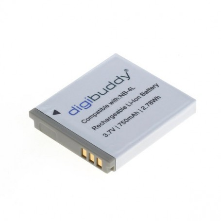 digibuddy - Battery for Canon NB-4L 750mAh - Canon photo-video batteries - ON2669